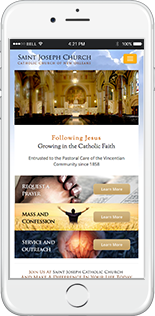 Saint Joseph Catholic Church Website Responsive Website