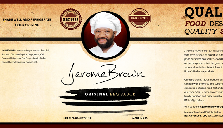 Jerome Brown BBQ Packaging