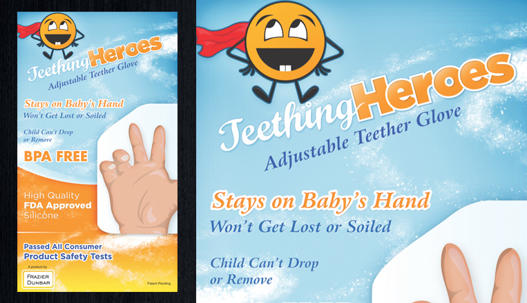 Teething Heroes Packaging