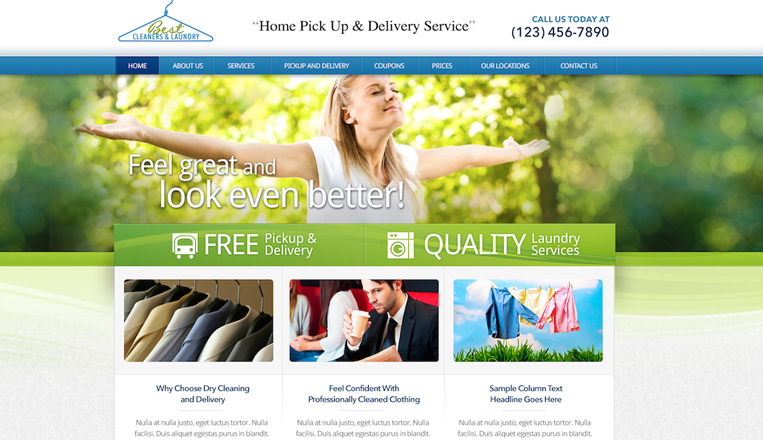 Best Cleaners Laundry Website Beta Images Design Studio