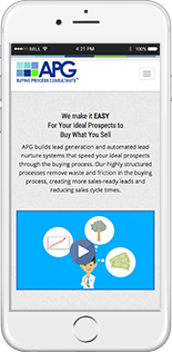 APG Buying Process Website Responsive Website