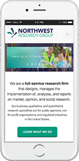 Northwest Research Group Website Responsive Website