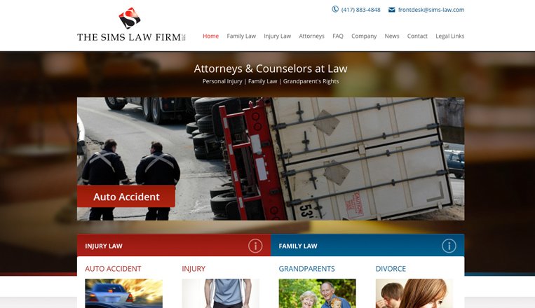 The Sims Law Firm Website