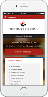 The Sims Law Firm Website Responsive Website