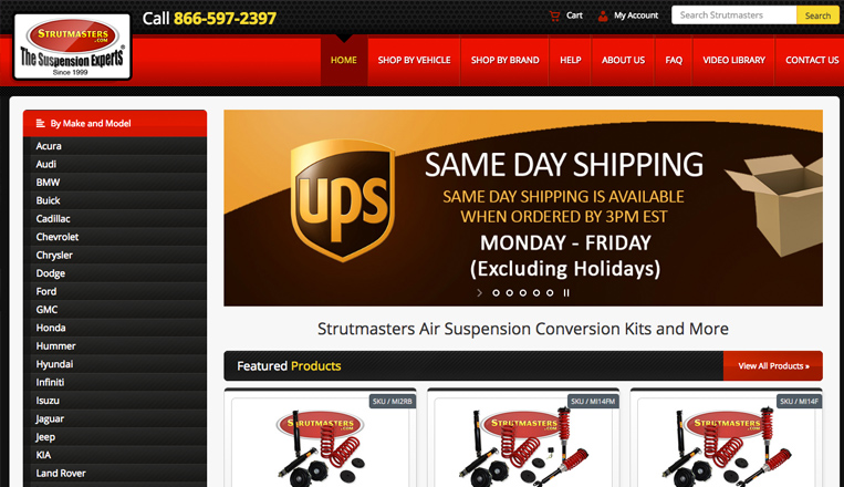 Strutmasters Website