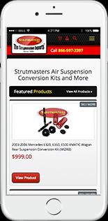 Strutmasters Website Responsive