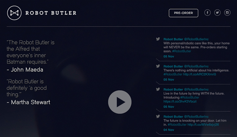 The Robot Butler Website