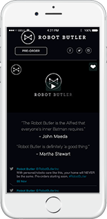 The Robot Butler Website Responsive Website