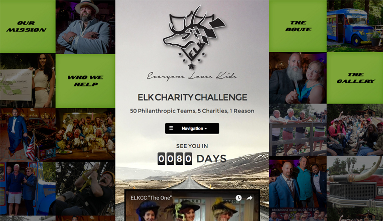 ELK Charity Challenge Website
