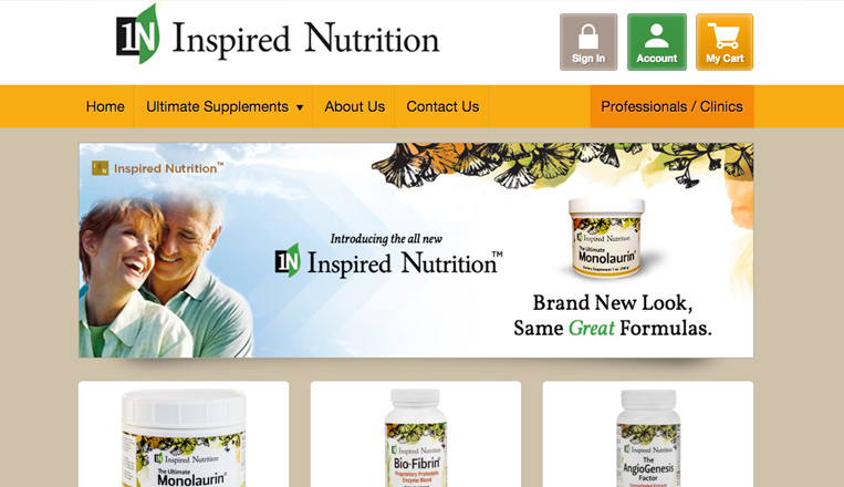 Inspired Nutrition Website