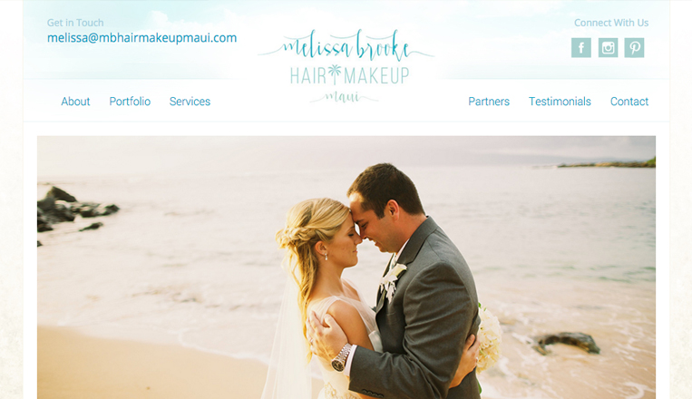Melissa Brooke Hair and Makeup Website
