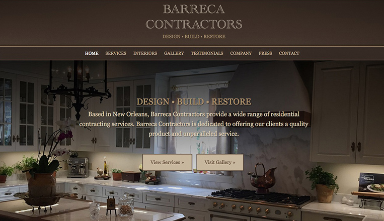 Barreca Contractors Website